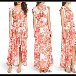 Eliza J Surplice Obi High/Low Dress